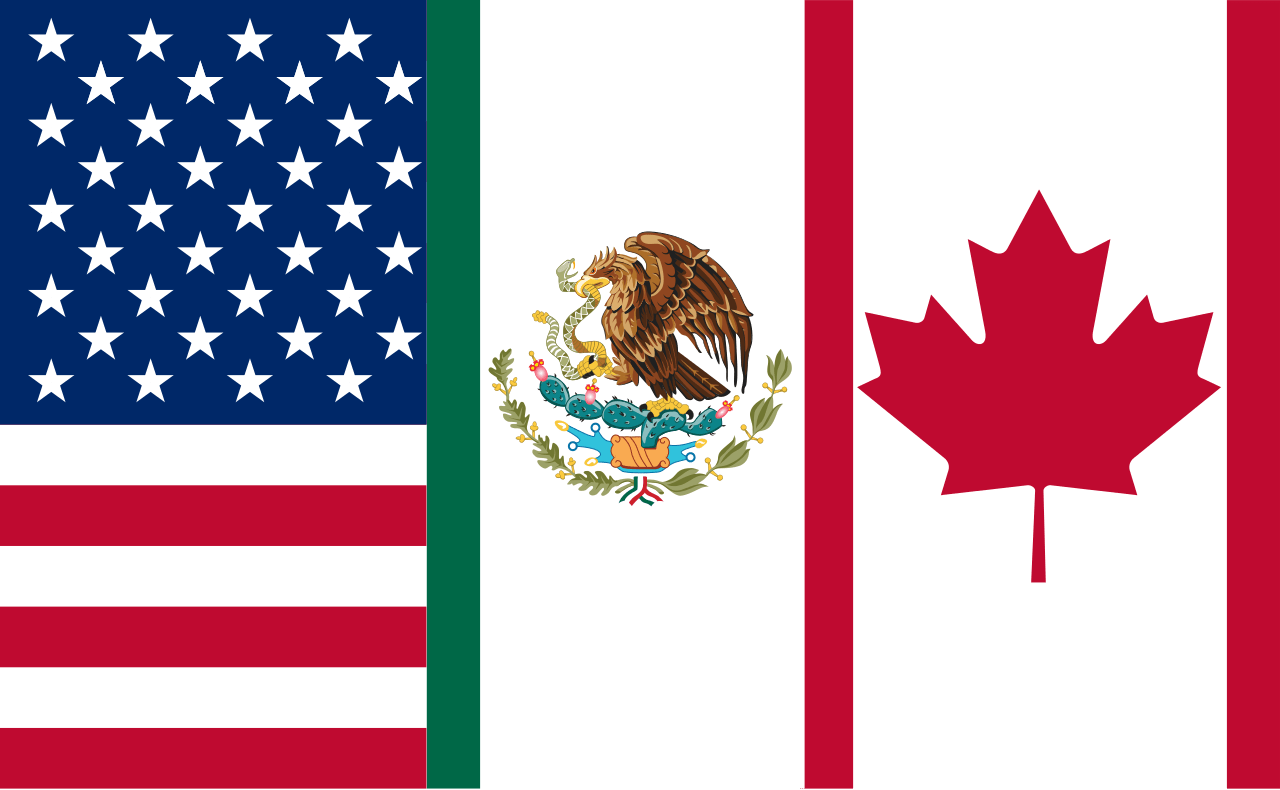 1280px Flag Of The North American Free Trade Agreement Standard Version