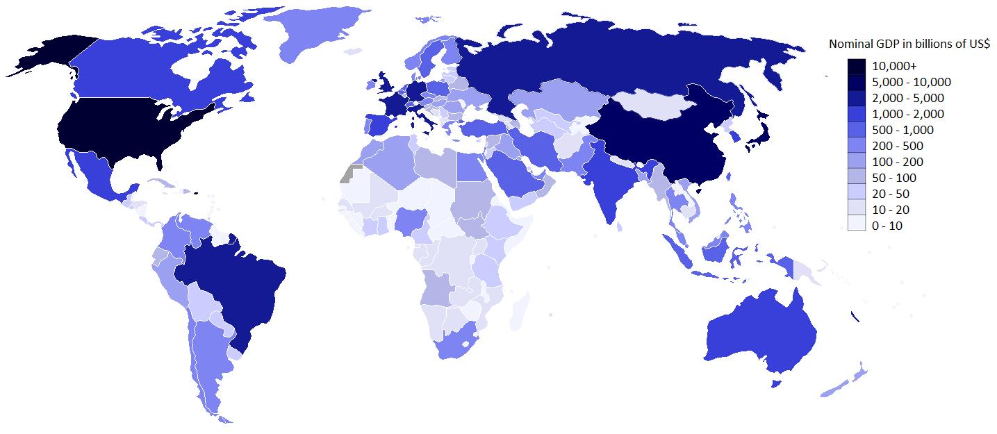 Pib mundial y pib por países