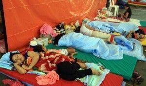 Familias colombianas deportadas de Venezuela permanecen en el albergue de Cúcuta (Colombia).