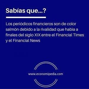 Periódicos financieros color salmón