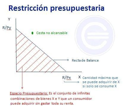 Restricción presupuestaria - recta del balance