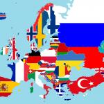 Europa con banderas