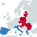 Mapa del sur y este europa