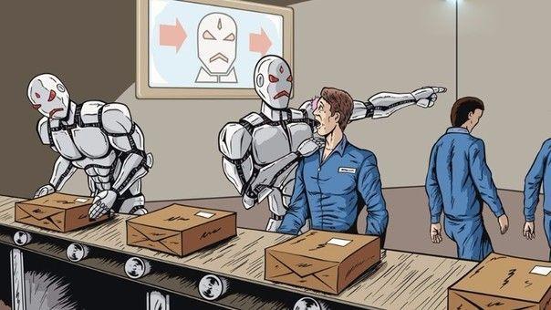 Robots en puestos de trabajo