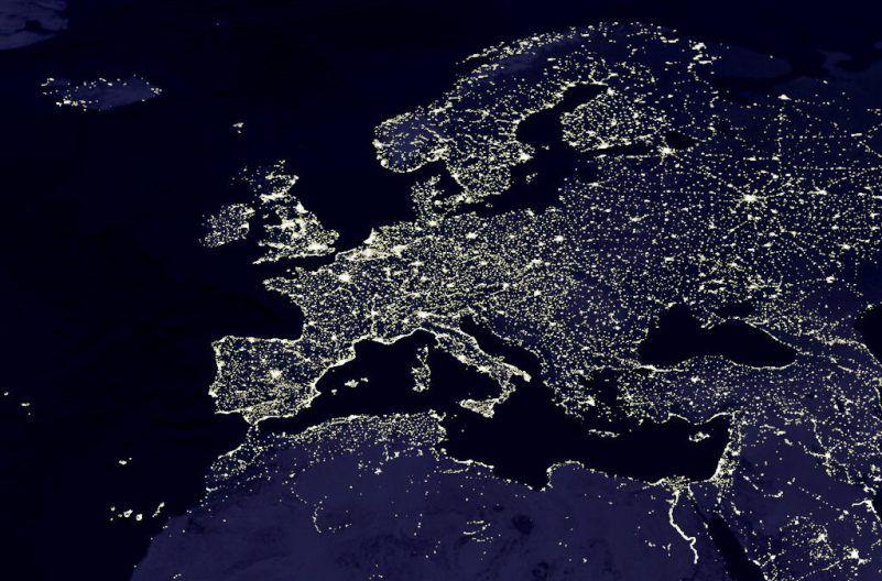 Europa vista satélite