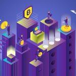 Isometric Cryptocurrency Concept