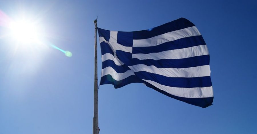 Bandera actual de grecia
