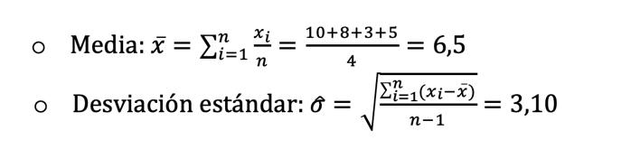Cálculo Parámetros Muestrales Grados De Libertad