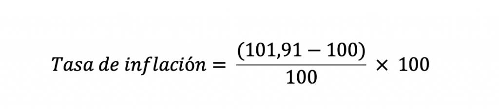 Cálculo Tasa De Inflación 2