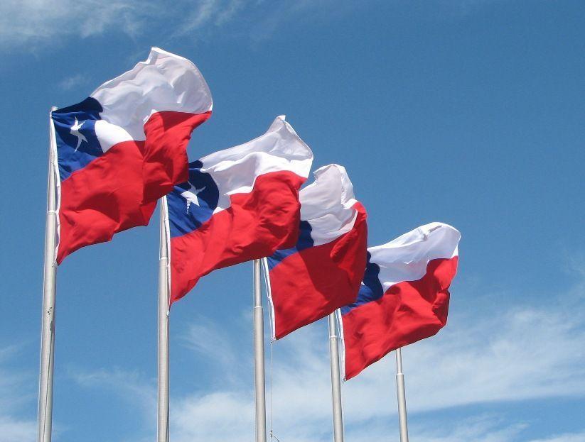 Chile Banderas En Puerto Montt