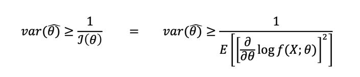 Cota De Cramer Rao Fórmula