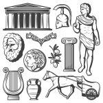 Vintage Ancient Greece Elements Set