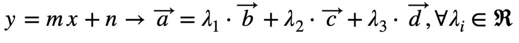 Ecuación De La Recta Y Combinación Lineal De Vectores