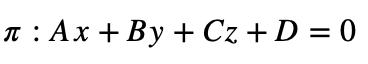 Ecuación General Del Plano