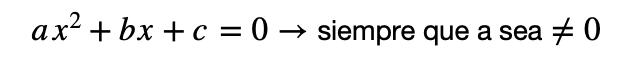 Estructura Ecuaciones De Segundo Grado