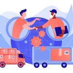 Collaborative Logistics Concept Vector Illustration