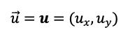 Expresion Matematica Del Vector