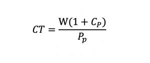 Fórmula Coste Total Cuña Fiscal