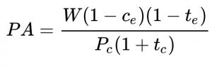 Fórmula Poder Adquisitivo