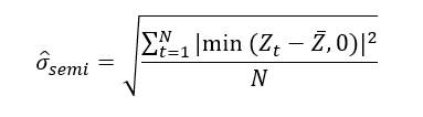 Fórmula Semidesviacion