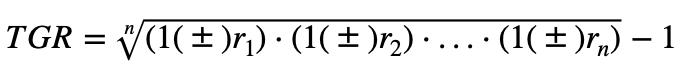 Formula De La Tgr Generalizada