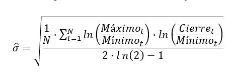 Formula Volatilidad De Parkinson 2