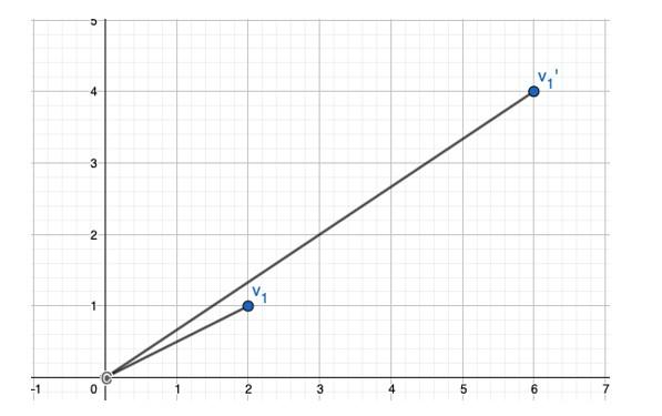 Gráfico Transformación Lineal