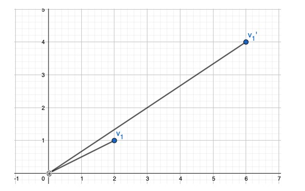 Linear transformation graph