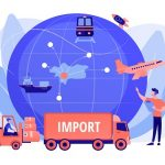 Import Of Goods And Services Concept Vector Illustration