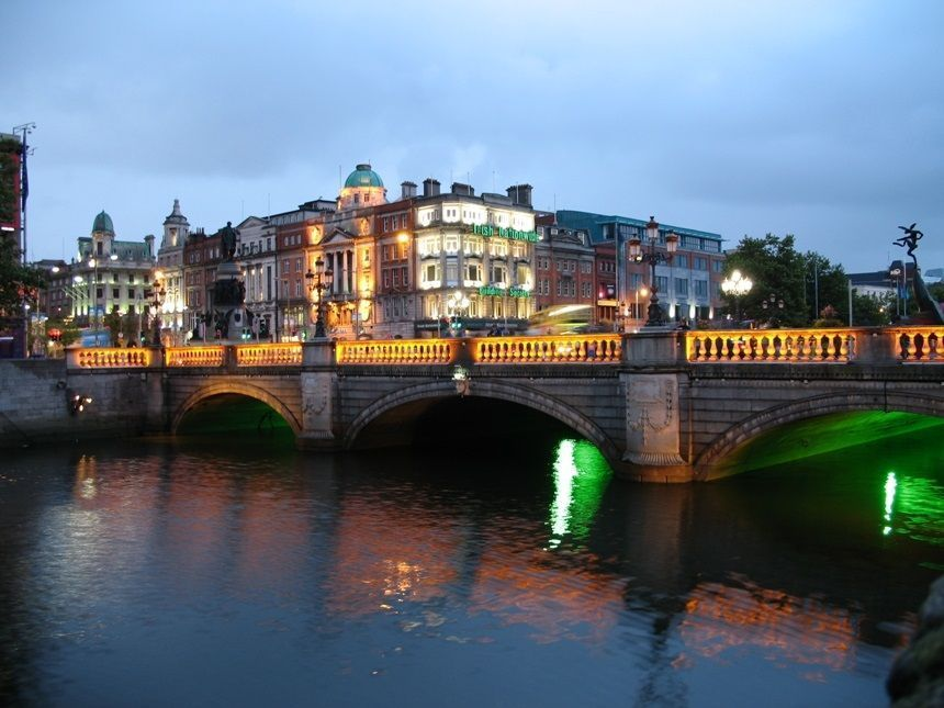 Irlanda Dublin Noche