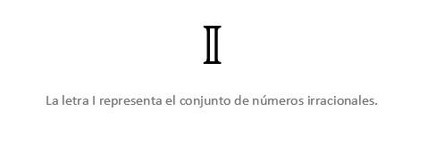 Letra I Números Irracionales