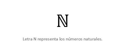 Letra N Números Naturales