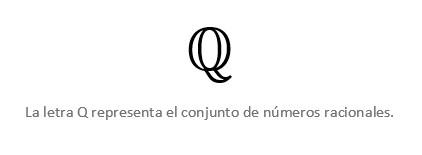 Letra Q Números Racionales