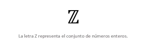 Letra Z Números Enteros