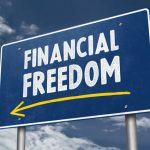 Financial Freedom Roadsign Concept
