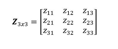 Matriz 3x3 1