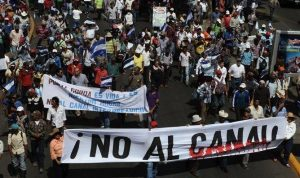 Marchers protest canal project in Nicaragua