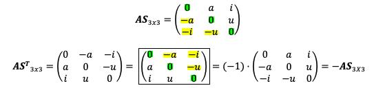 Propiedad De La Matriz Antisimétrica 1