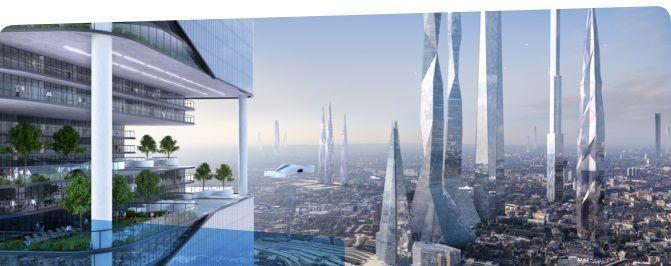 Rascacielos futuro ciudades