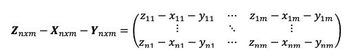 Resta De Matrices