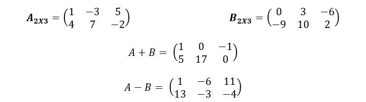 Suma Y Resta De Matrices Ejemplo