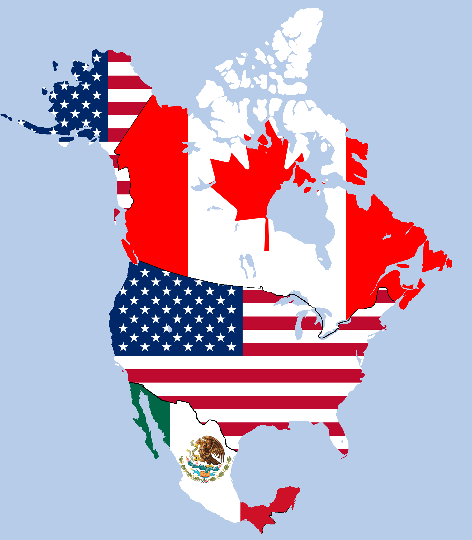 Tlcan Nafta Map
