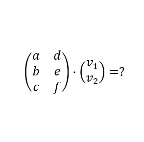 Linear transformation of matrices