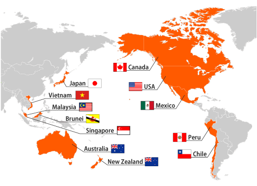 Transpacific Partnership Tpp Mapa