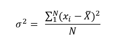 Varianza Formula