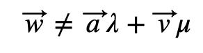 Vector W Diferente De Combinación Lineal
