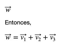Vector Y Combinación Lineal