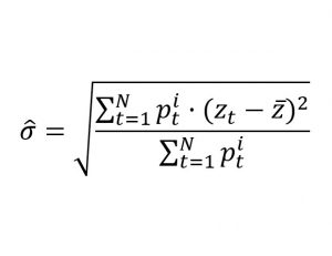 Volatilidad Histórica Ponderada Fórmula