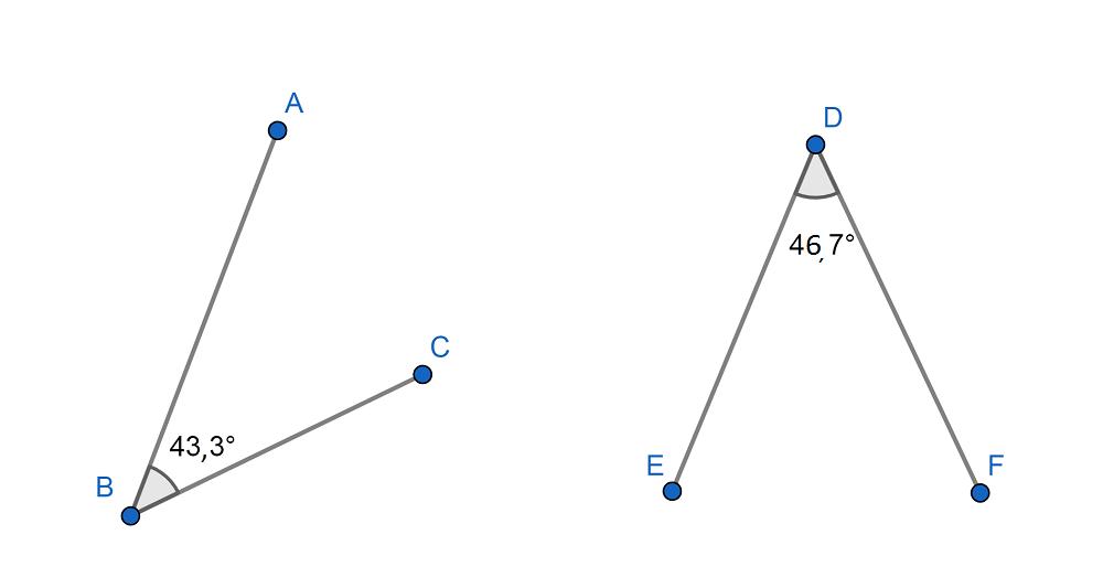 ángulos Complementarios No Consecutivos