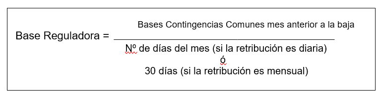 Base Reguladora Contingencias Comunes